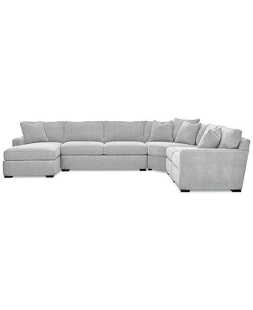 Furniture Radley 5-Piece Fabric Chaise Sectional Sofa, Created for Macy's & ...
