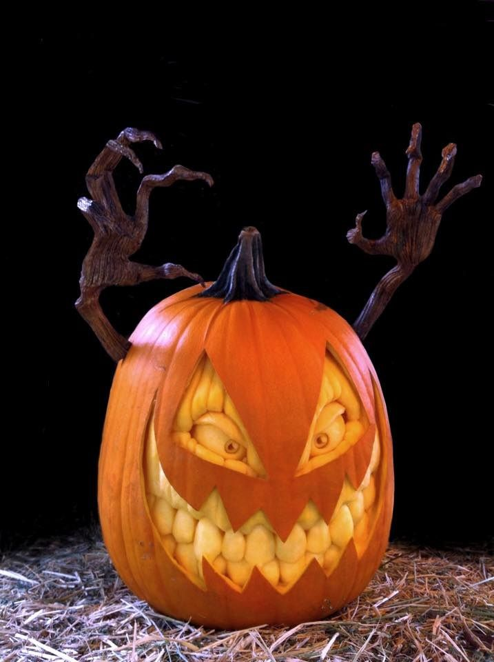 Demon Seed Jack-o-Lantern.Check out the amazing creations at Villafane Studios! ...