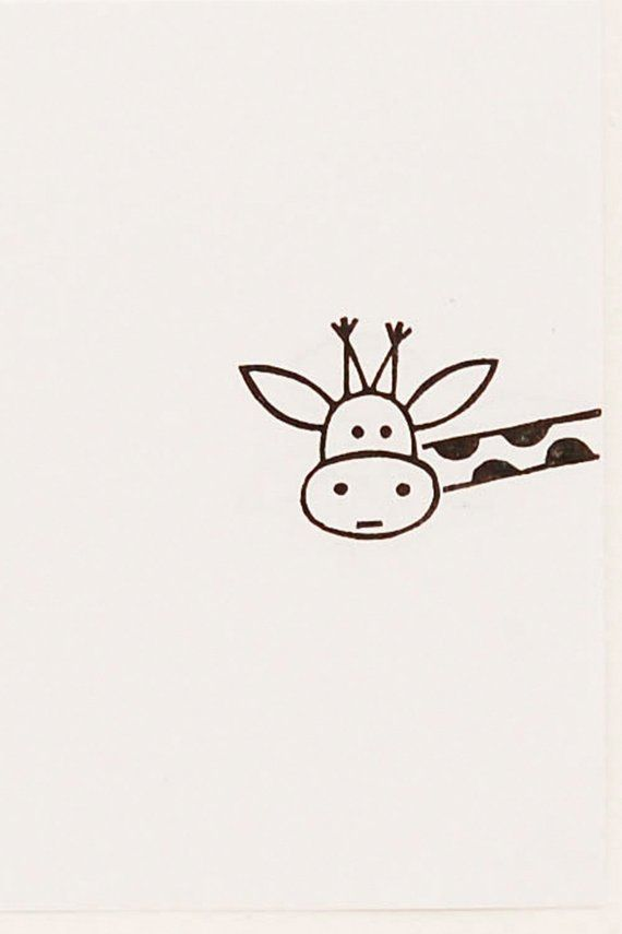 Cutest giraffe stamp from our animal stamp collection. Image SIZE: 3 x 1.9 cm ( ...