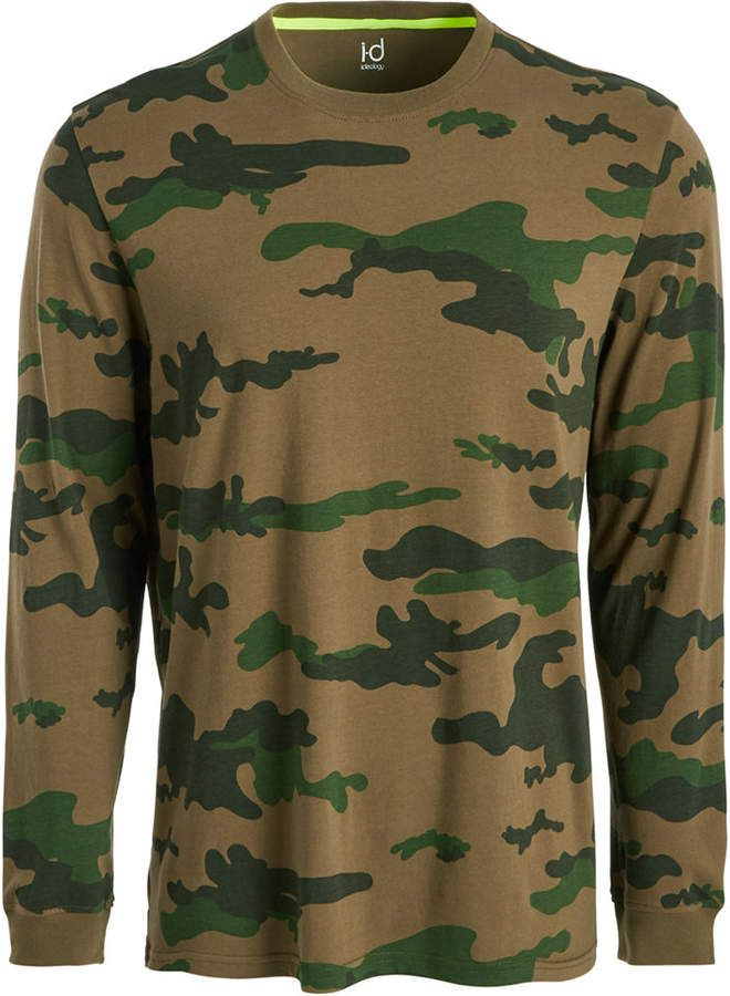Ideology Id Men Exploded Camo Long-Sleeve T-Shirt