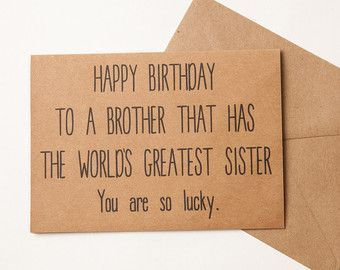DIY Crafting for Friends - Brother Card Brother Birthday Card Funny Card for Friends
