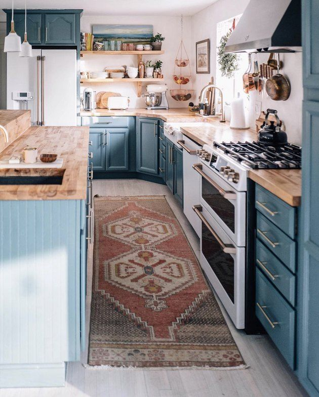 This Is How You Rock Blue Cabinets in the Kitchen - #blue #Cabinets #kitchen #Ro...