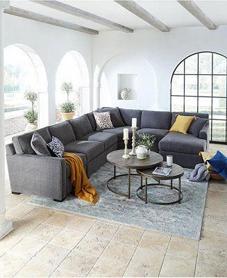 Furniture Radley Fabric Sectional Sofa Collection, Created for Macy's & Reviews ...