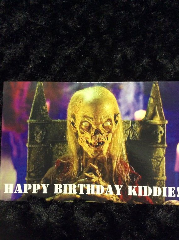 Birthday horror card - greeting card - 5x7 - cryptkeeper - tales from the crypt ...