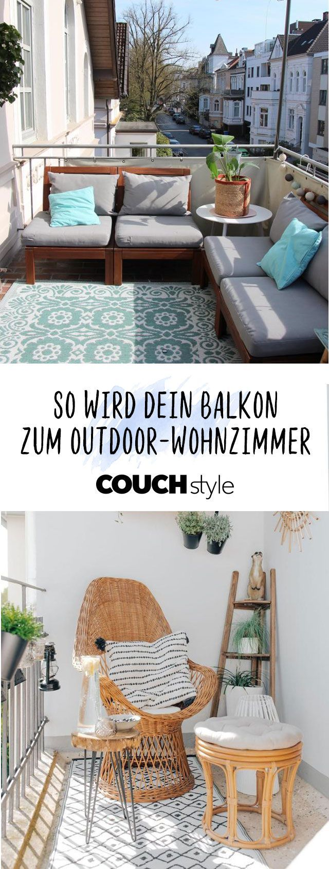 So your balcony becomes an outdoor living room: we'll show you how to make your balcony ...