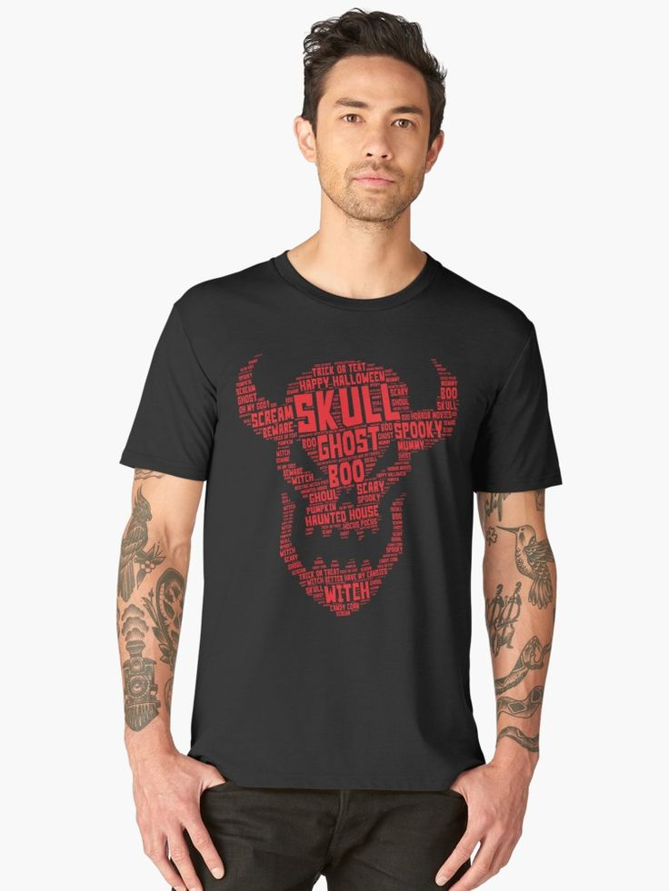 This Word Art - Halloween Demon Skull Head Design is scary and cute at the same ...