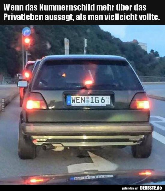 If the license plate says more about privacy .. | Funny pictures, sp ...