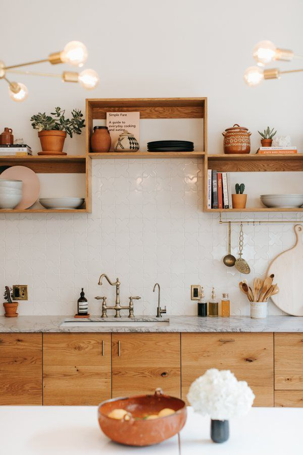| Fireclay Tile - A mix of mid-century modern, bohemian, and industrial interior...