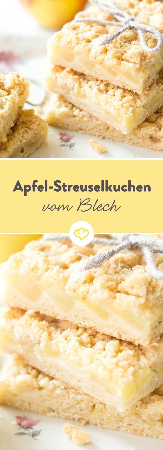 Our favorite fruit? Apples, of course! Under a crunchy streuseldecke and ...