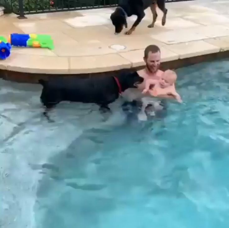 No, that's too deep for baby... you come in now!