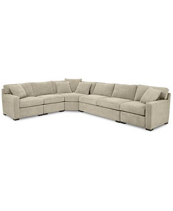 Image 1 of Radley 5-Piece Fabric Sectional Sofa with Apartment Sofa, Created for...
