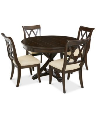 Baker Street Round Expandable Dining Furniture, 5-Pc. Set (Dining Table