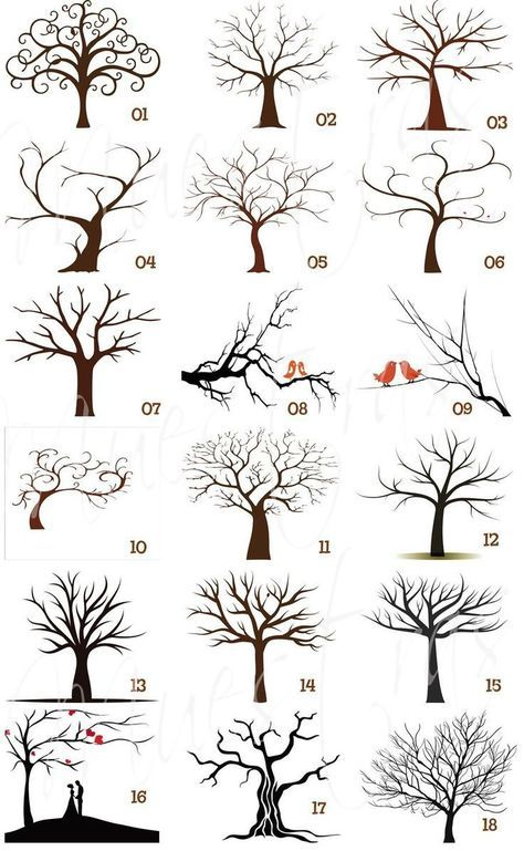 Easy to draw tree | perfect doodles for your bullet journal, planner or sketchbo...