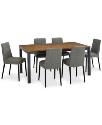 Closeout! Gatlin Dining Furniture, 7-Pc. Set (Dining Table & 6 Dining Chairs), C...
