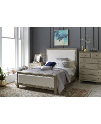 Parker Upholstered Bedroom Furniture, 3-Pc. Set (Full Bed, Chest & Nightstand), ...
