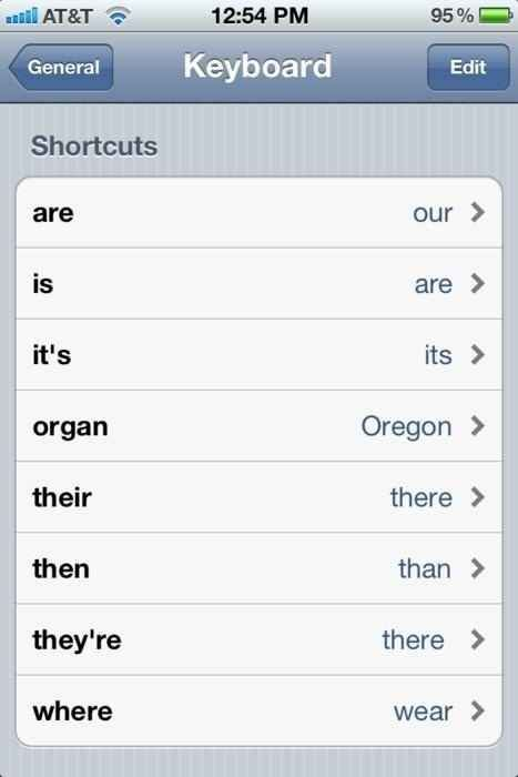 """The """"New Shortcuts: Pedantry Edition."""" 