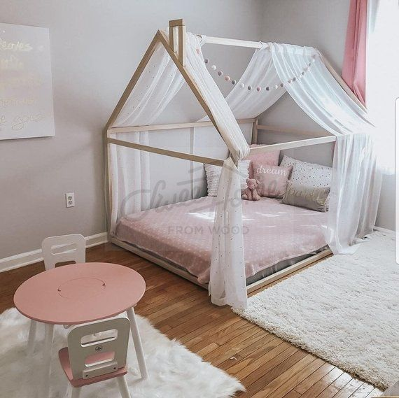 Montessori crib frame bed home bed home house wood | Etsy # nursery ...