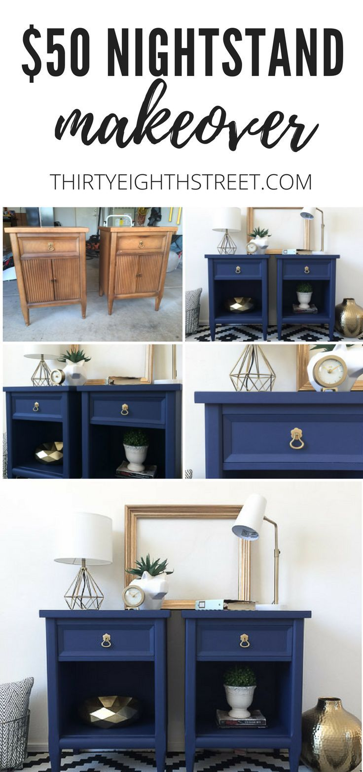Modern Painted Bedside Tables with Country Chic Paint, Modern Painted Nightstands W ...