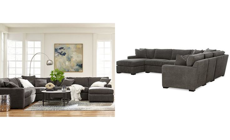 Radley 5-Piece Fabric Chaise Sectional Sofa - Sectional Sofas - Furniture - Macy...