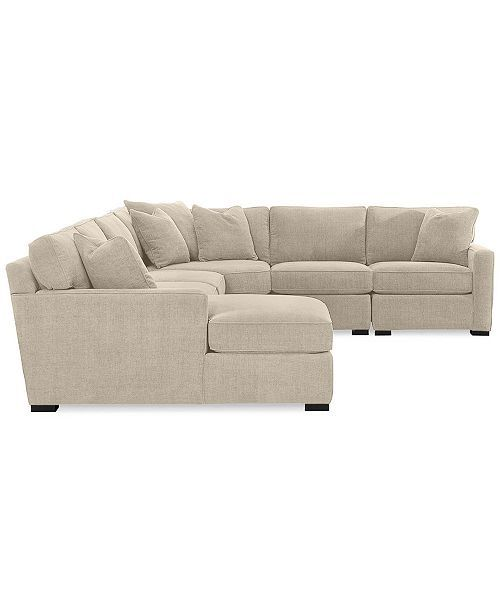 Furniture Radley 5-Piece Fabric Chaise Sectional Sofa, Created for Macy's - ...
