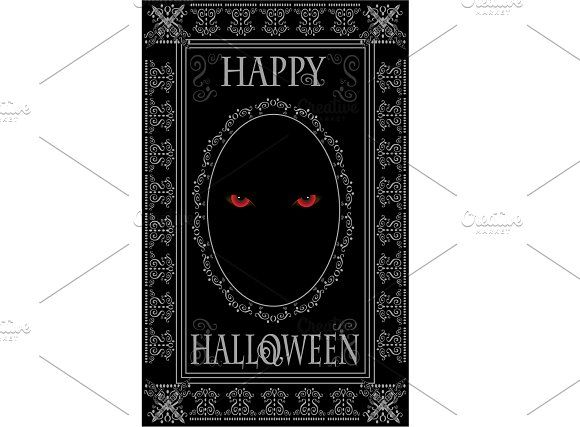 Happy Halloween Demons eyes  by TeaGraphicDesign on Creative Market