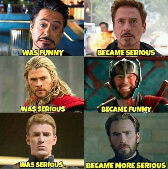 I would argue that Thor has always been funny, his movies were just a bit more s...