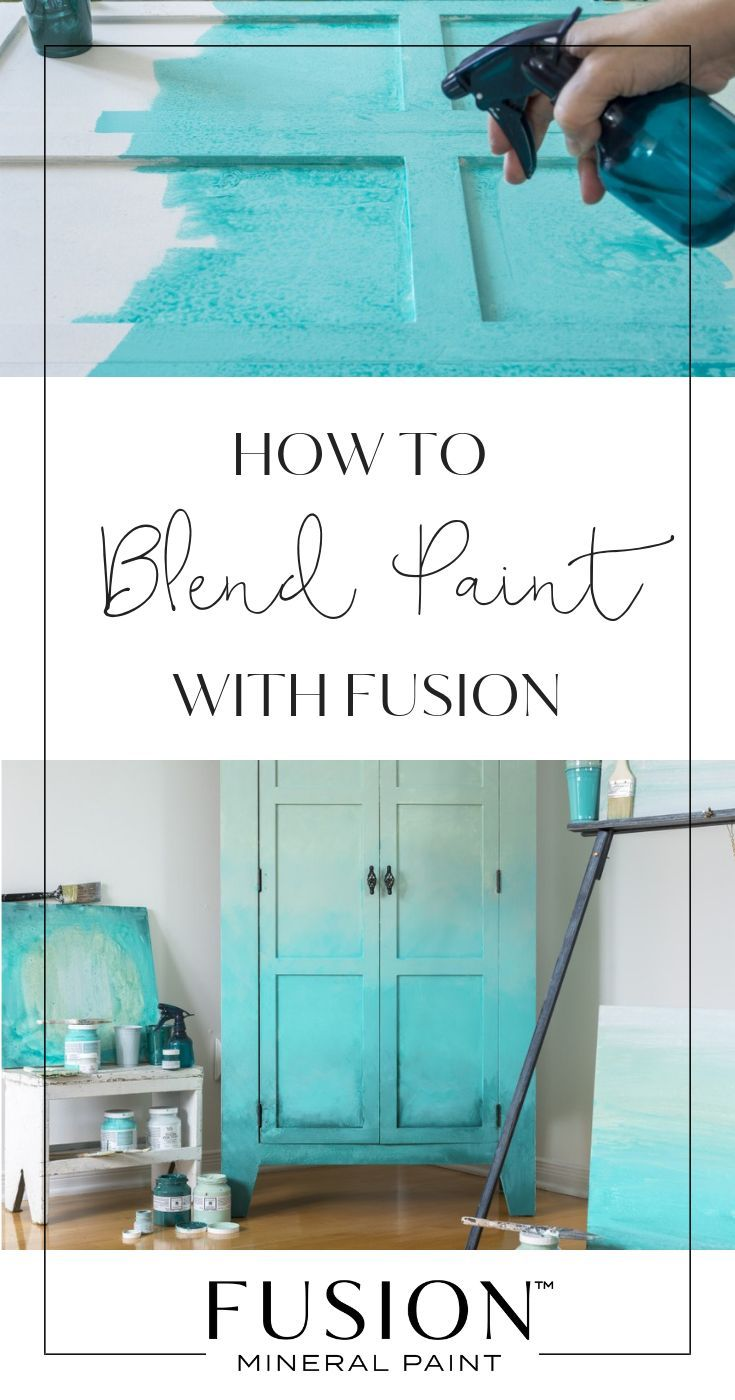 How To Blend Paint To Create An Ombré Effect • Fusion™️ Mineral Paint