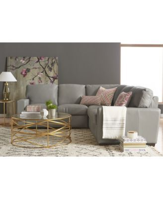 Ennia Leather Sectional And Sofa Collection, Created For Macy's | macys.com