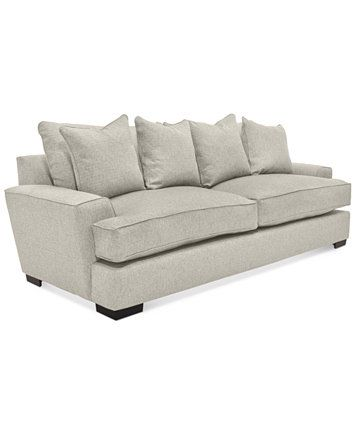 """Image 1 of Ainsley 101"""" Fabric Sofa with 4 Toss Pillows, Created for Macy's"""