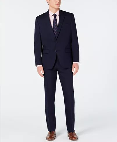Club Room Men's Classic-Fit Stretch Navy Twill Suit, Created for Macy's ...