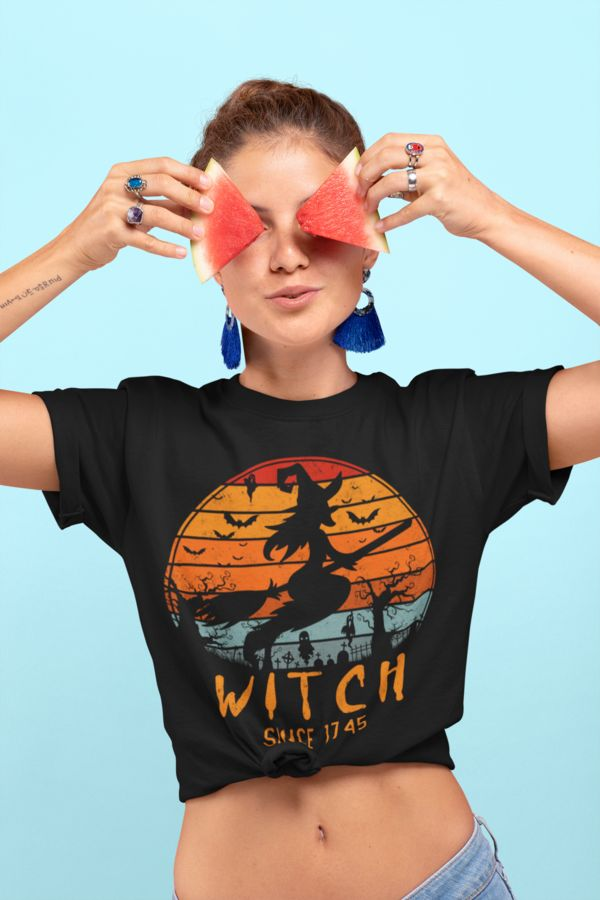 Vintage Halloween Gifts Idea for woman - Witch Since 1745 T-Shirt. Complete your...