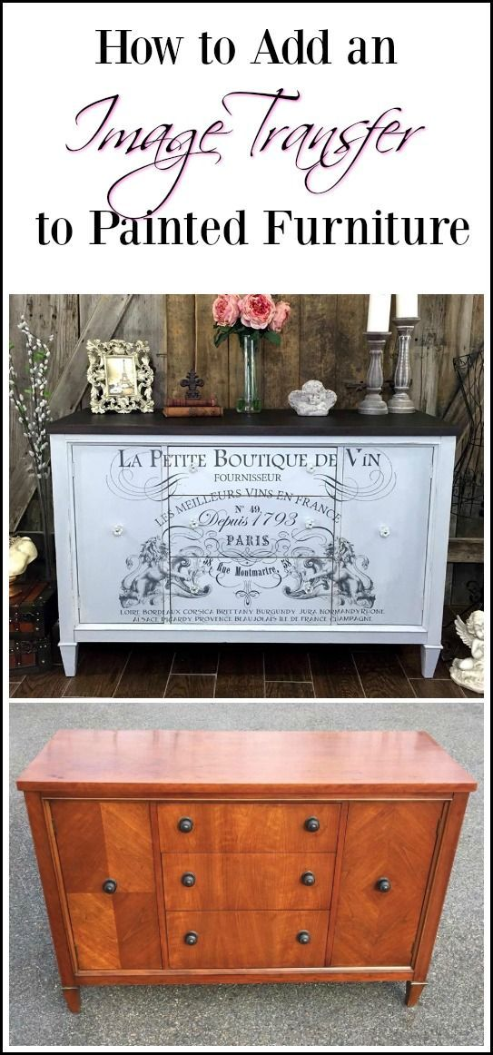 Painted furniture with an added image transfer is sure to wow and image transfer...