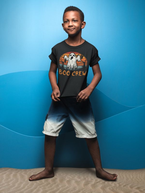 Funny Pumpkin Gifts Ideas for kids - Boo Crew Ghost T-Shirt. Looks great with ac...