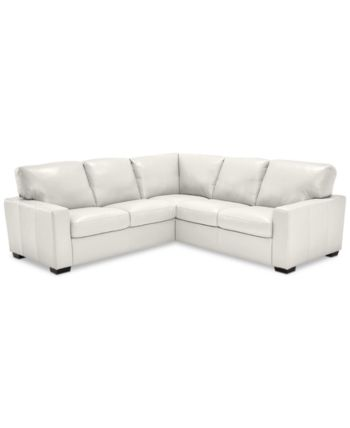 Ennia 2-Pc. Leather Sectional Sofa, Created for Macy's -