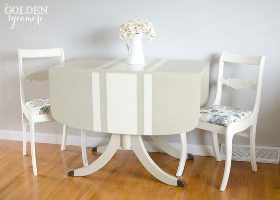 Can anyone tell me how to paint French Grain Sack Stripes on a table?