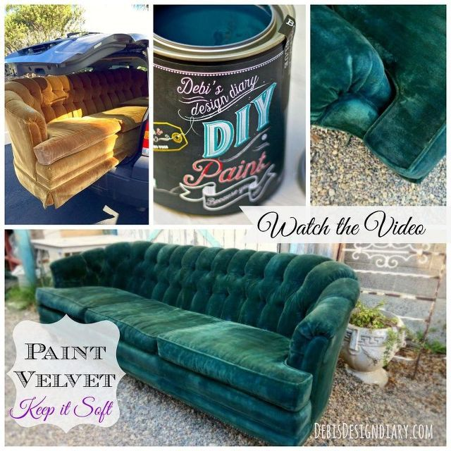 how to paint upholstery and keep the fabric soft even velvet, chalk paint, paint...