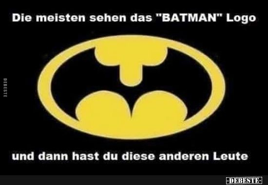 """Most see the """"BATMAN"""" logo .. 