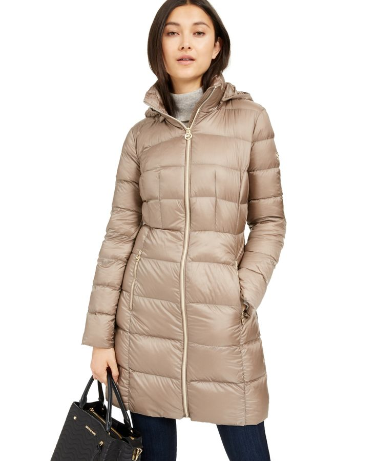 Michael Michael Kors Petite Hooded Puffer Coat, Created for Macy's -
