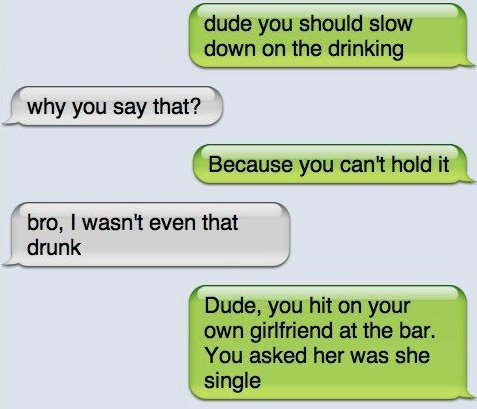SMS – I wasnt that drunk
