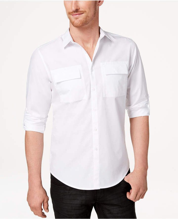INC International Concepts I.n.c. Men's Utility Shirt, Created for Macy'...