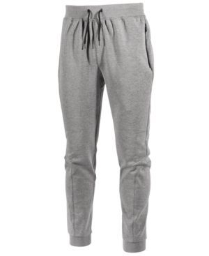Id Ideology Men's Performance Fleece Jogger Pants, Only at Macy's - Gray...