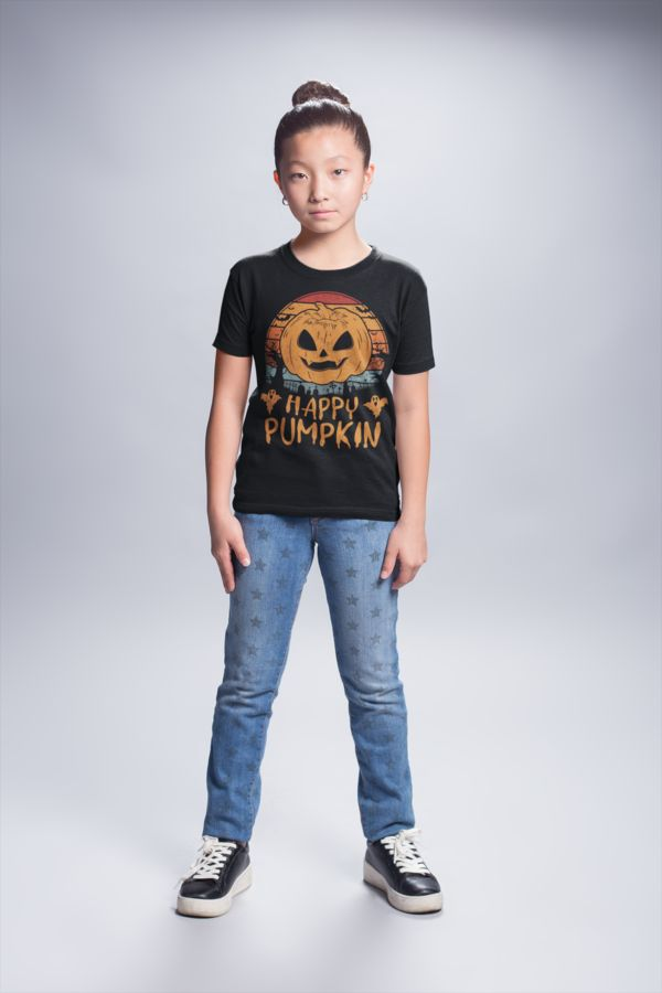 Cute Halloween Idea for Gifts for kids - Happy Pumpkin T-Shirt. Great suitable t...