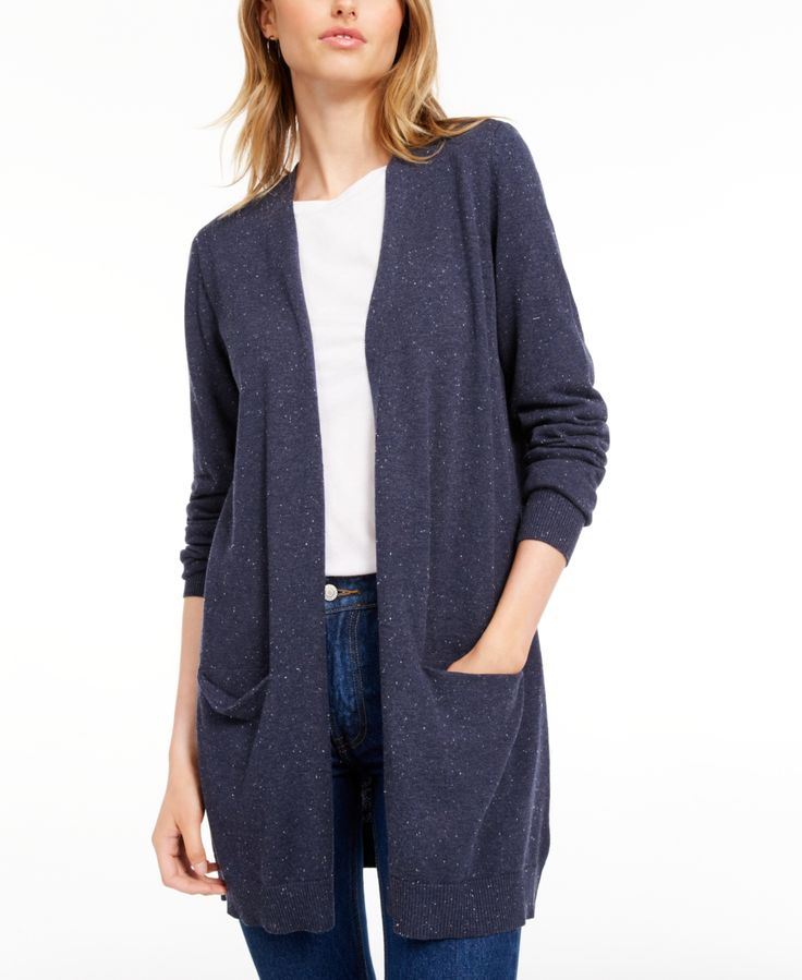 Maison Jules Open-Front Cardigan, Created for Macy's -