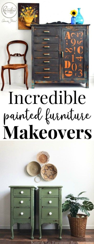 12 Painted Furniture Makeovers (Plus How They Got The Look) - Just Life And Coff...