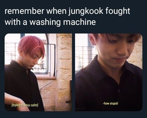not the first time he couldnt work a washing machine