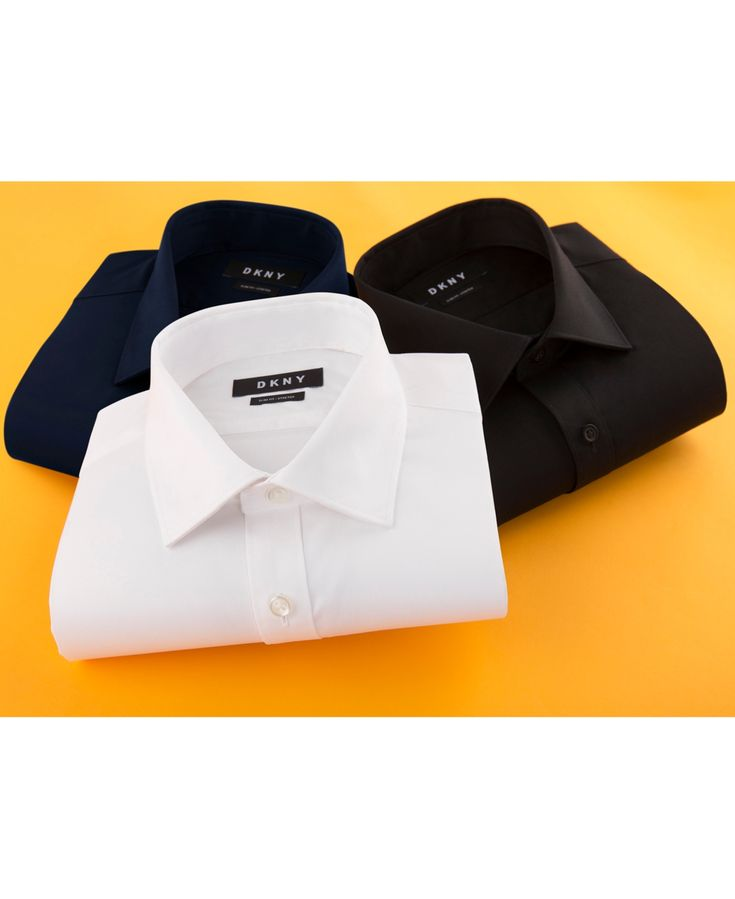 Dkny Men's Slim-Fit Stretch Solid Dress Shirt, Created for Macy's - Whit...
