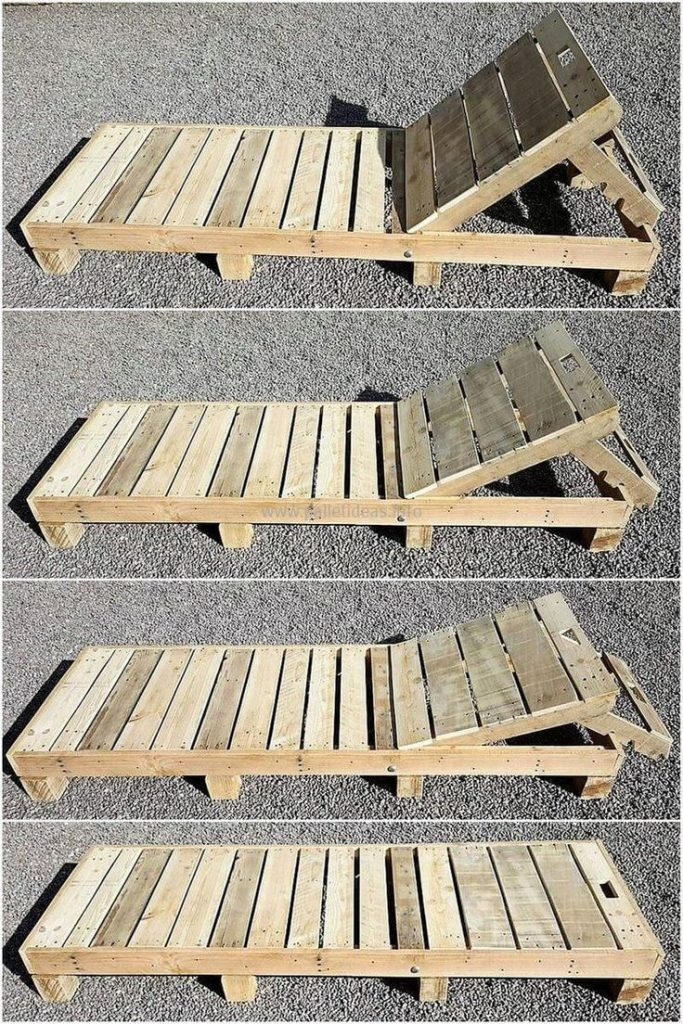 This wooden pallet sun lounger is a simple but the most attractive wooden palette ...