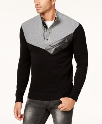 INC International Concepts Men's Mock Neck Sweater, Created for Macy's