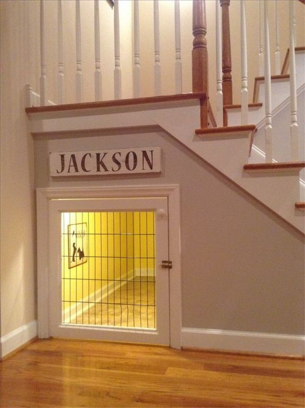 dream house ideas: under the stairs dog house More