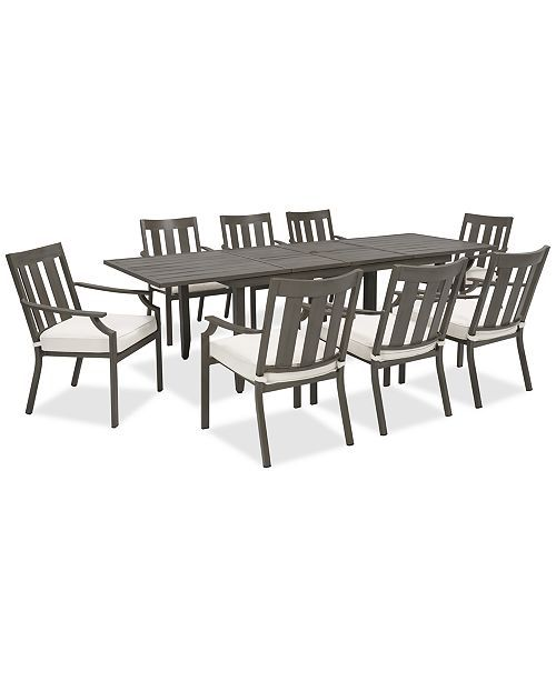Furniture Rialto Outdoor Aluminum 9-Pc. Dining Set (Extension Dining Table And 8...